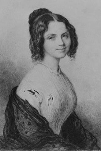 Anne Lynch Botta - Painting of Anne C. Lynch Botta, c. 1847