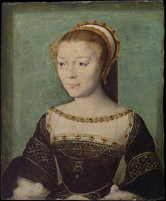 Anne de Pisseleu d'Heilly - Portrait of Anne attributed to Corneille de Lyon (Metropolitan Museum of Art)