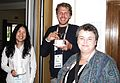 Annie Lin, John Cummings and Leigh Thelmadatter at EduWiki.JPG
