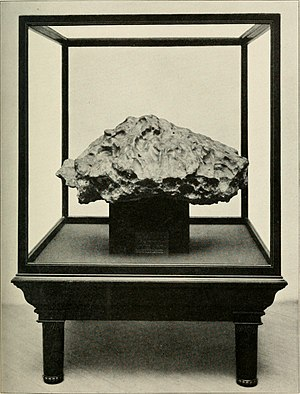 Tonopah, Nevada - Tonopah (Nevada) Meteorite. Weight 3,275 lbs.