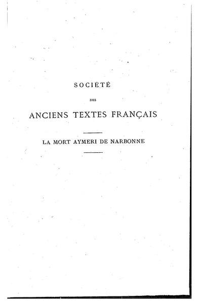 File:Anonyme - La Mort Aymeri de Narbonne.djvu