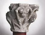 Anonyme toulousain - Chapiteau de colonne simple , Lions dans des lianes - Musée des Augustins - ME 220 (2).jpg