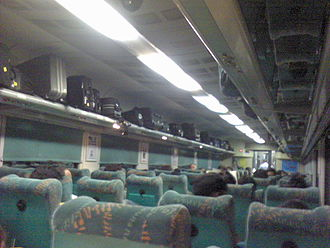 Habibganj - New Delhi Shatabdi Express - Interior view of Bhopal Shatabdi Express AC Chair Car