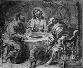 Sketch for The Supper at Emmaus