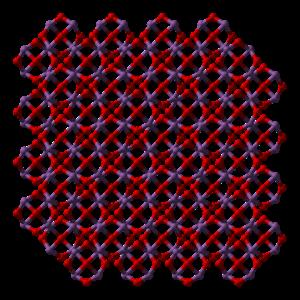 Antimony trioxide - Image: Antimony(III) oxide senarmontite xtal 2004 3D balls