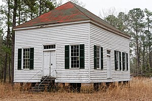 National Register of Historic Places listings in Allendale County, South Carolina - Image: Antioch Christian Church, Allendale County, SC, US
