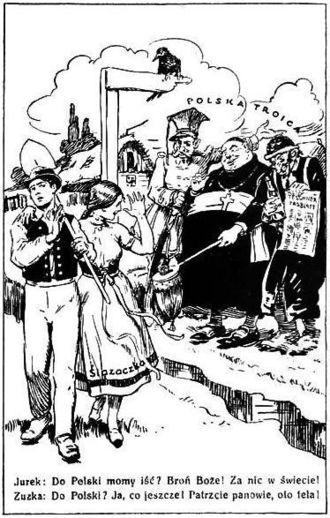 Zaolzie - Czech anti-Polish leaflet aimed at Cieszyn Silesians
