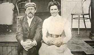 1901 in literature - Anton Chekhov with Olga Knipper, on their honeymoon