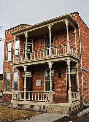 National Register of Historic Places listings in Missoula County, Montana - Image: Apartment building at 116 West Spruce St., Missoula, Montana
