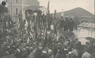 Jaime, Duke of Madrid - Jaimist gathering in Sant Fost de Campsentelles (1919)