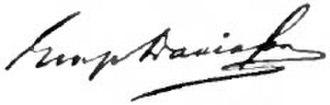 George Davidson (geographer) - Image: Appletons' Davidson George signature