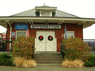 Appomattox Station - The former Appomattox Norfolk and Western Station in December 2007