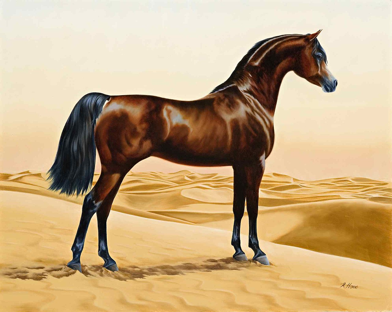 File:Arab horse painting animals arabian ainting by ...