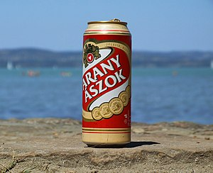 Dreher Breweries - Arany Ászok beer - the beer of the Hungarian Summer at Lake Balaton