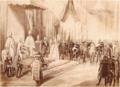 Aranysarkantyús lovagok avatása I. Ferenc József koronázásán, 1867.png