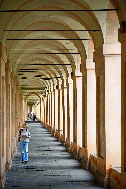 Arcade of Sanctuary of the Madonna di San Luca, Bologna, Italy