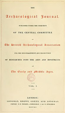 Archaeological Journal, Volume 1, Title page.jpg
