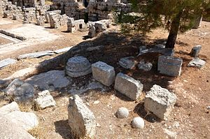Ancient Corinth - Archeological site located close to Temple of Apollo.