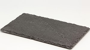 Fissility (geology) - Slate displaying fissility