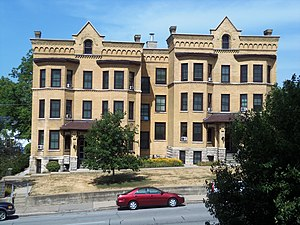National Register of Historic Places listings in west Davenport, Iowa - Image: Argyle flats davenport iowa