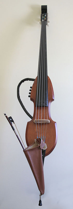 "Jazz bass - A five-string Electric Upright Bass (""EUB"")"