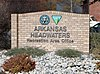 Arkansas Headwaters Recreation Area Office sign.JPG