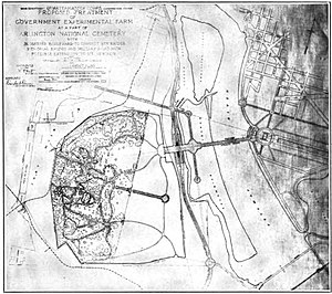 The Arts of War and The Arts of Peace - Original approved plan of 1926 for the design of Arlington Memorial Bridge's eastern and western approaches, and the treatment for the entrance to Rock Creek and Potomac Parkway.