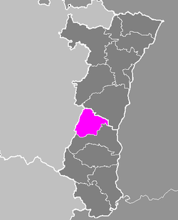 Location of Ribeauvillé in Alsace