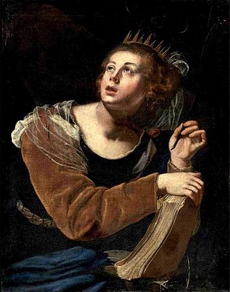 Catherine of Alexandria - Saint Catherine of Alexandria by Artemisia Gentileschi