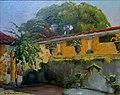 Arthur Timótheo da Costa, páteo com fonte, 1913, óleo sobre madeira, 33 x 40,8 cm, Photo Gedley Belchior Braga.jpg