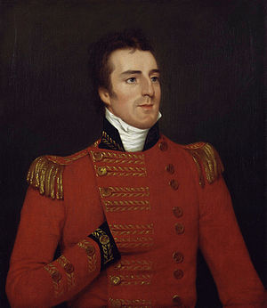 Arthur Wellesley, 1st Duke of Wellington - Wellesley in India, wearing his major-general's uniform. Portrait by Robert Home, 1804.