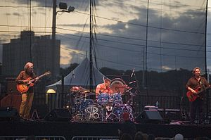 Asia (band) - Asia in 2006; left-to-right: Howe, Palmer and Wetton (off-camera: Downes)