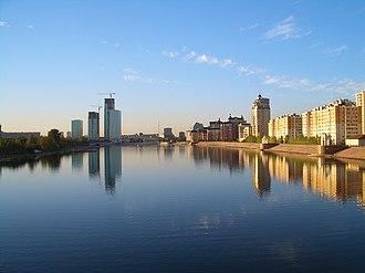 Ishim River - Ishim in Astana