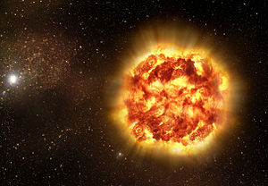 Accelerating expansion of the universe - Artist's impression of a Type Ia supernova, as revealed by spectro-polarimetry observations