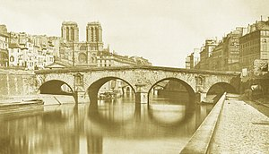 Pont Saint-Michel - Pont Saint-Michel in 1857.