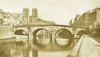 Pont Saint-Michel - Pont Saint-Michel in 1857.