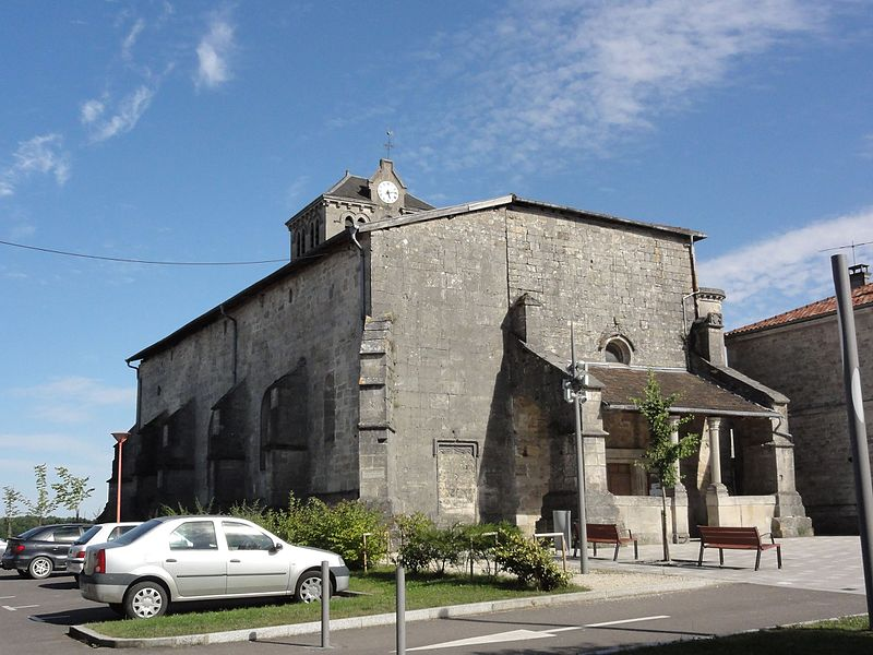 Aulnois-en-Perthois (Meuse) église Saint-Martin