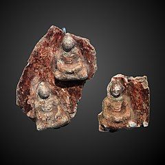 Aureola fragment: the seven buddha of the past