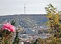 Ausblick über Stuttgart zum Fernsehturm Stuttgart von der Zeppelinstraße - panoramio.jpg