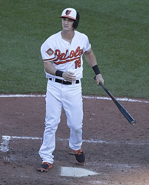 Austin Hays - Hays with the Baltimore Orioles in 2017