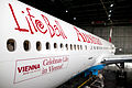 Austrian Airlines Boeing 777-200ER (OE-LPB) unveiling in Life Ball 2014 special livery 1.jpg