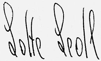 Lotte Ledl - Signature of Lotte Ledl