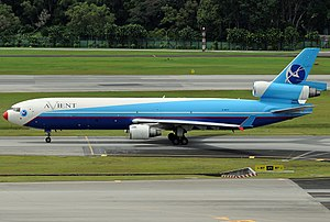 Avient Aviation Flight 324 - An Avient Aviation McDonnell Douglas MD-11 similar to the one involved in the crash