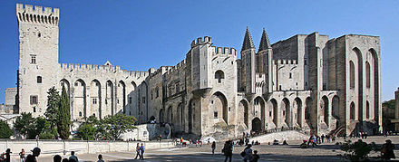 The Palais des Papes in Avignon Avignon, Palais des Papes by JM Rosier.jpg