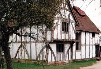 Bromsgrove - Fifteenth century Merchants house formerly located on Bromsgrove's High Street, now at Avoncroft Museum of Historic Buildings