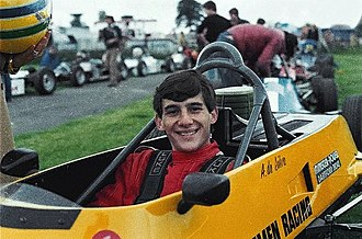 Ayrton Senna - 21-year old Senna in his British Formula Ford 1600 single seater.