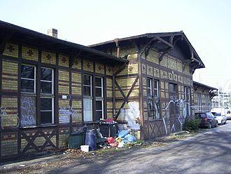 Potsdam Park Sanssouci railway station - The Bürgerbahnhof building
