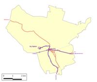 Będzin tram network.png