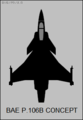 BAe P.106B top-view silhouette.png
