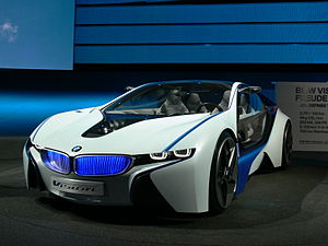 BMW i8 - Vision Efficient Dynamics concept vehicle unveiled at the 2009 International Motor Show Germany.